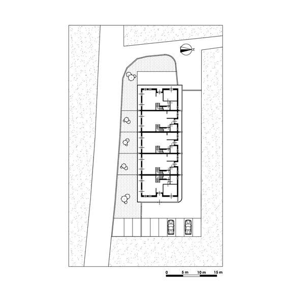 Progetti di nuovi edifici case a schiera lucca for Progetti di costruzione di appartamenti