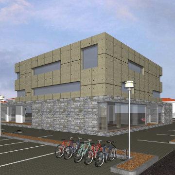 Progetti di nuovi edifici realizzazione di fabbricato ad for Progetti di costruzione commerciale gratuiti